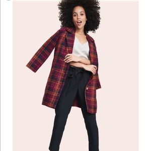 NWT A New Day plaid tweed pea coat